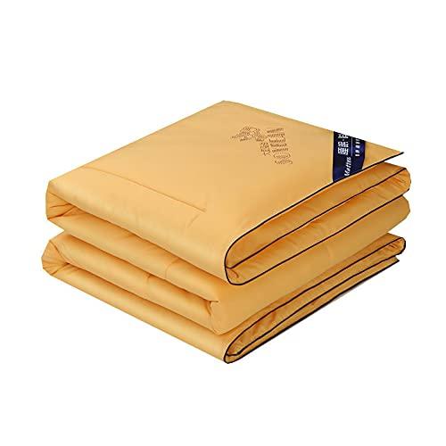 Cooles Gefühl Soja Faser Sommerquilt, Tencel Sommerquilt, Klimaanlage Quilt, reine Farbe Sommerwaschmaschine Wäschequilt, 70 * 86 Zoll