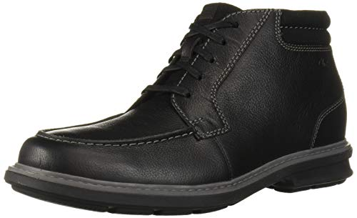 Clarks Men's Rendell Rise Ankle Boot, Black Leather, 80 M US