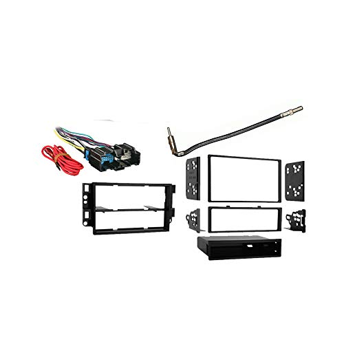 Compatible with Chevy Aveo 2009 2010 2011 Single Double DIN Stereo Harness Radio Install Dash Kit