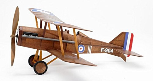 RAF SE5a WWI Bi-plane model airplane complete vintage model rubber-powered balsa wood aircraft kit that really flies! by Vintage Model Co.