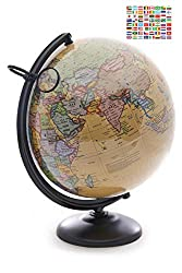 Kids Globes Reviews - Omishome 12 Inch World Globe with Magnifying Glass