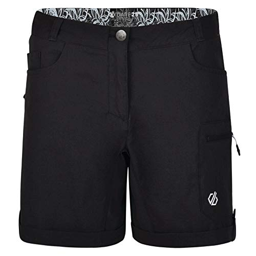 Dare 2b Damen Melodic Ii Water Repellent Multi Pocket Hiking Short, Schwarz (Black), 40 (Herstellergröße: 14)