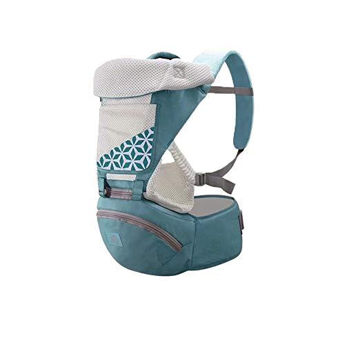 YCHBOS Portabebes Recien Nacido, Distribuya el Peso Uniformemente, La Seguridad Cómodo Ligero Portabebe Trekking para Niños de 3-36 Meses (Dos Estilos, Cuatro Colores) Green-Breathable Style