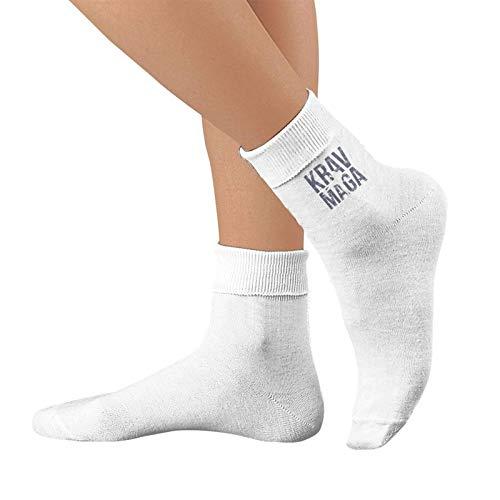 Osmykqe Blanco Krav Maga Hombres y mujeres Calcetines para correr Espuma impermeable Calcetines de algodón puro Calcetines deportivos de moda
