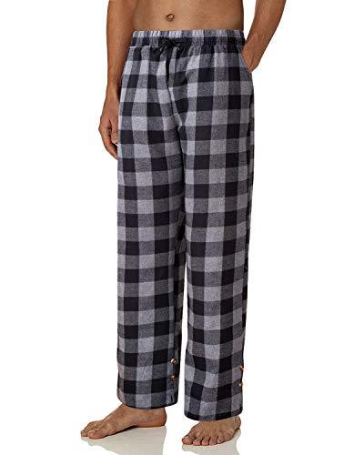 J.Ver Herren Schlafanzughose Karierte Flanell Pyjamahose Lang Freizeithose Baumwolle Nachtwäsche Sleep Hose Loungewear
