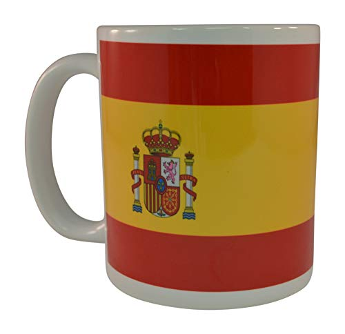 Taza de café con la bandera de España, ideal como regalo para hombres y mujeres, España