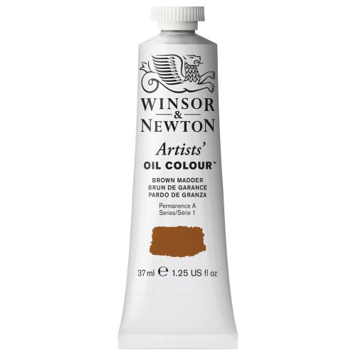 Winsor & Newton Artists' Oil Color Paint, 37-ml Tube, Brown Madder
