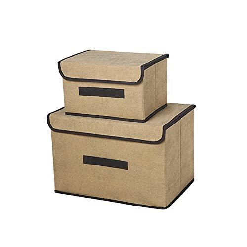 HDSFD - Scatola portaoggetti per vestiti, scatola pieghevole, armadio per cassetti, adatto per riporre vestiti in camera, soggiorno, ecc. (giallo)