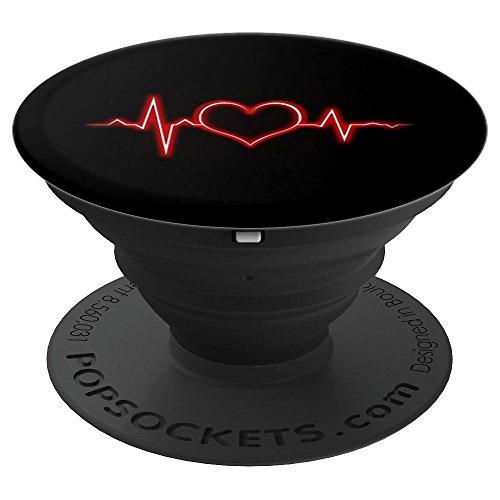 Herz Herzschlag Puls Valentinstag Geschenk Fun - PopSockets Ausziehbarer Sockel und Griff für Smartphones und Tablets