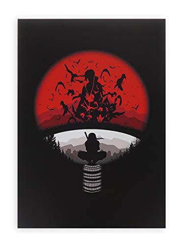 CoolChange Hochwertiges Naruto Wandbild auf Hartschaumplatte | Poster 30x42cm | Motiv: Itachi Uchiha