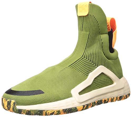 adidas Men's N3Xt L3V3L Basketball Shoe, Tech Olive/Legend Earth/Linen, 13 M US