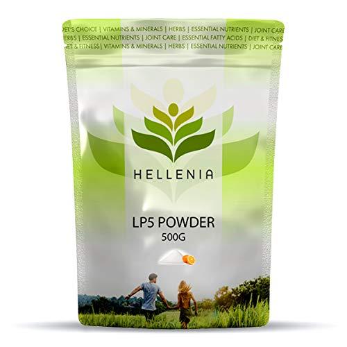 Hellenia LP5 Powder 500g - Orange Flavour - Linus Pauling Blend for Cardiovascular Health (Vitamin C, Proline, Lysine, Glycine, Collagen)
