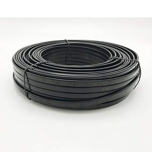 LINGZIA 12V 24V 110V 220 voltios tubería de agua anticongelante protección contra heladas Cable calefactor para techo alambre calentador eléctrico autorregulable 5m220V 25W