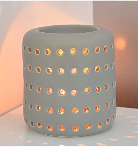 Artisanal Brule geur/windlicht Coliseo van keramiek, grijs
