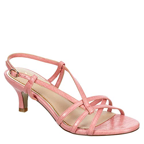 XAPPEAL Tinley - Womens Short Stilleto Heel Open Toe Sandal Pink, Size 7.5 Medium Width