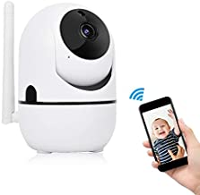 720P/1080P HD Wireless WIFI PTZ Camera Auto Track Security Camera with Night Vision/Two-way Voice Intercom/Remote Monitoring/Intelligent Tracking/Human Body Detection(1080P)