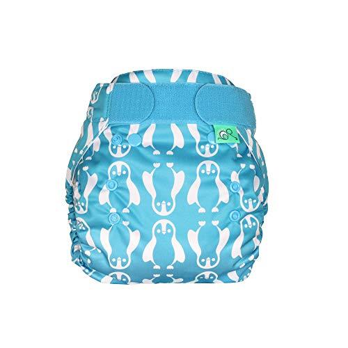 TotsBots PeeNut wasserdichte Windel – Wiederverwendbare Tag/Nacht Windeln von Neugeborenen bis zum Töpfchentraining Windeltücher zum Reinigen zwischen der Verwendung (Windelfüße)