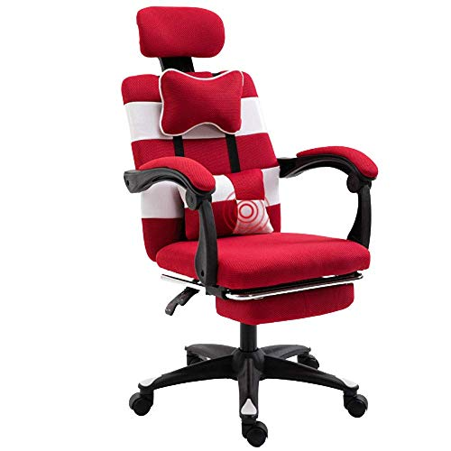 WSDSX Office Chairs Ergonomic Gaming Chair with Adjustable Height Home Office Computer Desk Chair (Color : D)