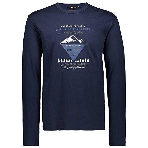 CMP Man T-Shirt à Manches Longues FR:50 Noir/Bleu