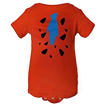 InkThread Fred Flintstone Baby Onesie Orange