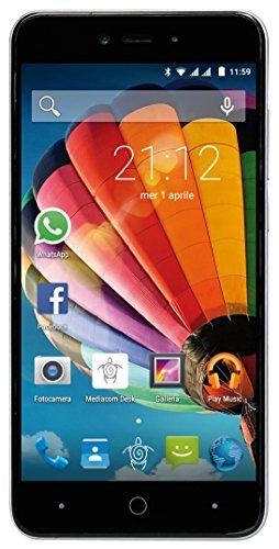 Mediacom PhonePad Duo G515 Smartphone da 8 GB, Dual-SIM, Argento