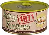 Happy Kuchen | Kuchen in der Dose | Personalisiert mit Wunsch- Geburtsjahr, Namen und Geschmack | Geburtstagsgeschenk | Geschenk | Geschenkidee (Zitronen-Streusel, Geburtsjahr 1971)