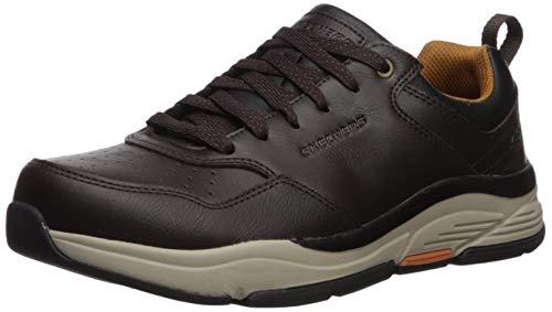 Skechers Benago-Treno, Zapatillas Hombre, Negro (Choc Black Leather), 42 EU