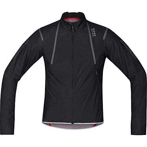 GORE BIKE WEAR Mens Road cyclist jacket Ultra lightweight and compact GORE WINDSTOPPER OXYGEN WS AS Light Size M Black JWAOXY