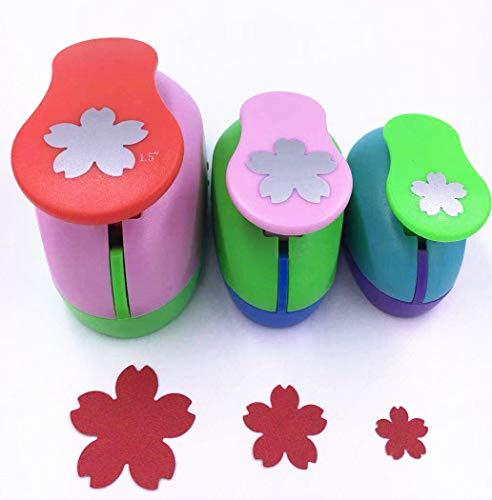 """TECH-P Creative Life 3 PCS (5/8"""",1"""",1.5"""",) Flower Shape Craft Punch Scrapbook Paper Cutter Eva Foam Hole Punch Tool"""