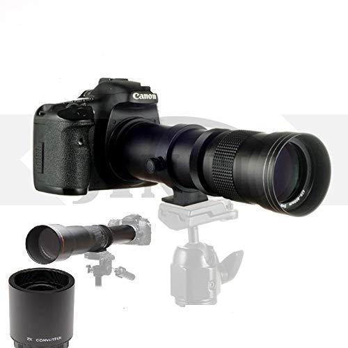 JINTU 420-1600 mm + 2X Teleconverter lente f/8.3-F16 teleobjetivo zoom enfoque manual para cámara digital Nikon SLR D3200 D3300 D5100 D5200 D80 D90 D7000