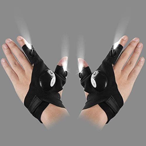 Luces LED para guantes de pesca, guantes de linterna, utilizados para reparar automóviles en la oscuridad, correr, pescar, acampar y hacer caminatas por la noche