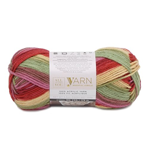 Darice, Things You, Essential Acylic Solid Color Yarn, Summerset Ombre