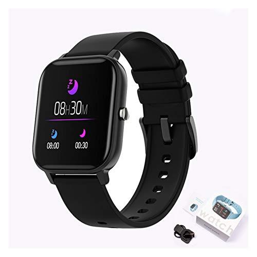 GYY New P8 Pantalla De Color Smart Watch Mujeres Hombres Touch Fitness Tracker Presión Arterial Reloj Inteligente Mujer Smartwatch para Xiaomi (Color : Silicone Black)