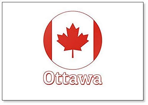 Kühlschrankmagnet, Motiv Nationalflagge Kanada & Schriftzug der Stadt Ottawa