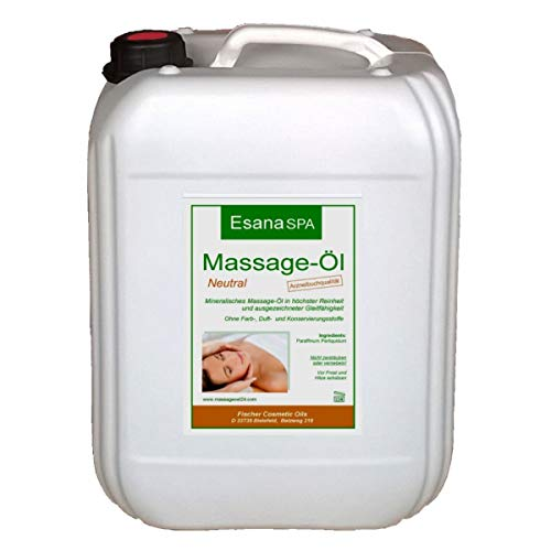 Esana SPA Massageöl neutral (5 Liter) für Wellness & Physiotherapie, med. Qualität DAB/Ph.Eur.