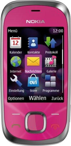 Nokia 7230 Handy (3.2 MP, Musikplayer, Bluetooth, Flugmodus, 2GB Speicherkarte, Slider) Hot Pink