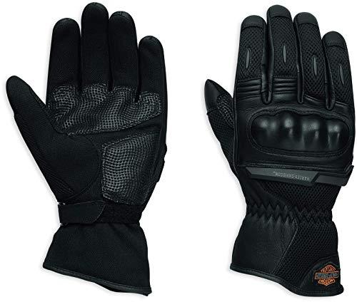 HARLEY-DAVIDSON Motorrad Leder Handschuhe B&S Logo Mesh, L