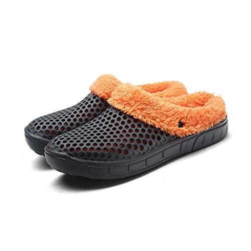 Wusfeng Comfort Slippers voor binnen en buiten, comfortabel en warm, geschikt voor de wasmachine, touch-warme schoenen, anti-skind, rubberen zool, voor dames