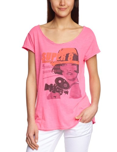 Custo - Camiseta para Mujer, Talla 40/42, Color Rosa