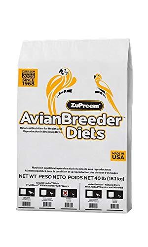 ZuPreem - Alimento para Aves de Cría Avian Breeder FruitBlend | Pienso Loros Medianos - 18,14 kg ✅