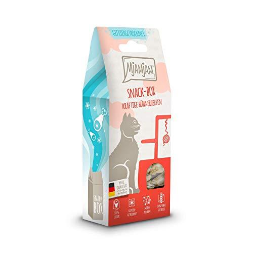 MjAMjAM - Premium Snackbox für Katzen - kräftige Hühnerherzen, 1er Pack (1 x 35 g)