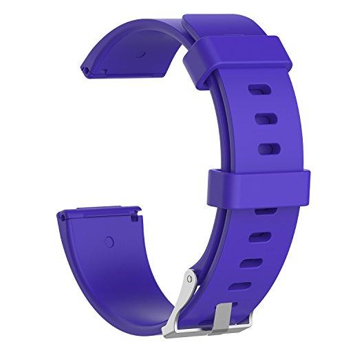 AISPORTS Paquete de 5 correas de silicona compatibles con Fitbit Versa Lite para mujeres y hombres, correa de repuesto para reloj inteligente Fitbit Versa 2/Versa/Versa Lite