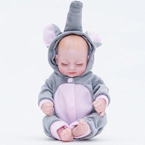 LLX Giocattolo Realistico Della Ragazza del Ragazzo Di 10 Pollici del Vinile Molle Di Simulazione Della Bambola del Bambino Di Mini Bambola Molle Di Reborn
