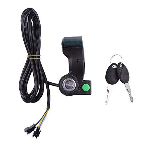 Interruptor de bocina de bicicleta - Pantalla de acelerador de pulgar de...