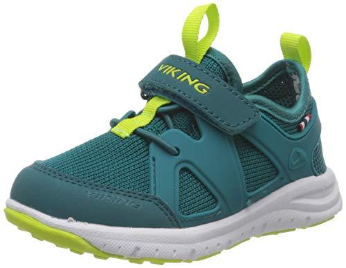 viking Unisex-Kinder Moholt Hohe Sneaker, Blau (Petrol/Green 5588), 34 EU