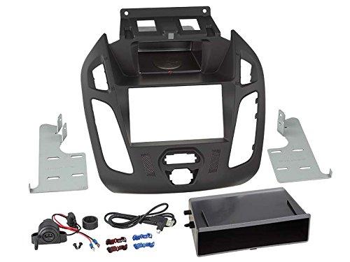 Adaptateur de façade 2-DIN Inbay® pour Ford Transit Connect 2013 > noir