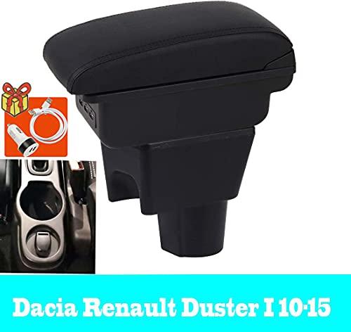 Boîte d'accoudoir de voiture pour Duster I 2010-2015 Double-couche Console centrale boîte de rangement repose-bras avec Port de chargement