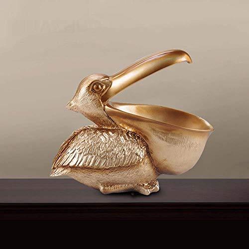 FAGavin Deko Hause Harz Toucan Schreibtisch Schlüssel Aufbewahrungsbox Wohnzimmer Studie Dekoration Weinschrank Fernsehschrank Veranda Kreative Dekoration Handwerk (Color : Gold)