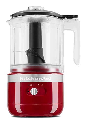 KitchenAid KFCB519ER Cordless Chopper, 5 cup, Empire Red