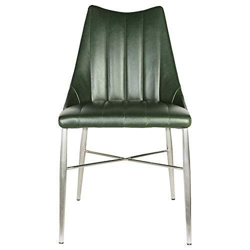 CKQ-KQ Silla de comedor Silla de la barra Silla de oficina Silla de comedor moderno minimalista silla del ocio simples impermeable Sillas Asamblea for el hogar de cocina (Color: Verde, Tamaño: 47x52x8